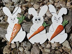 Dekorácie - Zajačiky s mrkvičkou - 8003256_