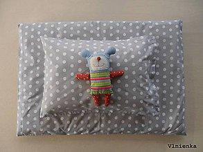 Úžitkový textil - Bodkované obliečky na posteľ šedé GREY and WHITE - 8000822_