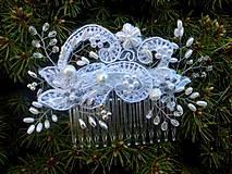 - svadobný hrebienok do vlasov - snehobiely 2 - objednávka - 8002357_
