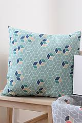 Úžitkový textil - Obliečka na vankúš-Mentolová - 8002841_