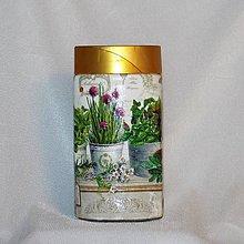 Nádoby - Dóza na bylinky Pažítková - 8000487_