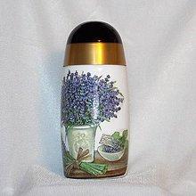 Nádoby - Dóza na bylinky Levanduľa - 8000511_