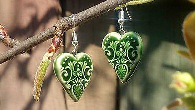 Náušnice - Zelené ....č.118 - 8001479_