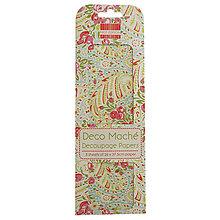 Papier - FE Deco Maché - Blue Paisley (papier na decoupage s ružičkami a paisley vzorom) - 8002050_