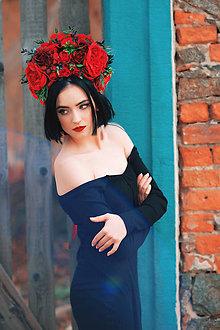 f8542cfe23d Ozdoby do vlasov - Čelenka z červených kvetov - 8001661