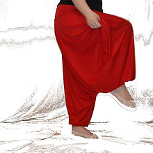 Nohavice - Turky Ušatky bambus - Červené - 8002422_