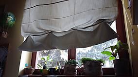 Úžitkový textil - grey-white roller blind/roleta/ - 8001770_