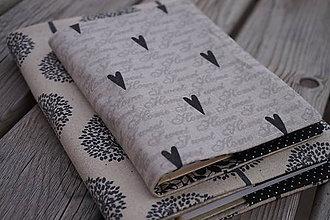 Papiernictvo - obal na zápisník  A 6 srdce - 8000558_