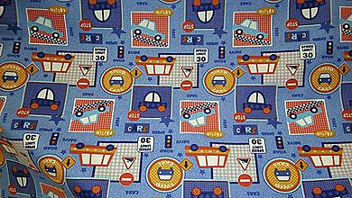 Textil - Autíčka a značky š. 160cm - 8001831_