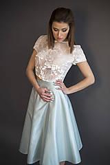 Sukne - Hodvábna sukňa s bodkami na objednávku - 8001185_