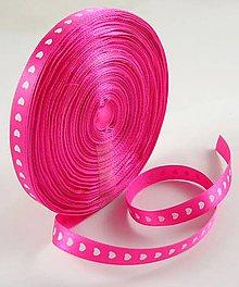 Galantéria - Stuha so srdiečkom 10 mm - ružová sýta - 8001062_