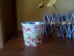 Nádoby - jahôdkový kvetináč - 8003953_