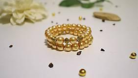 Náramky - Náramok nežný zlatistý 2 v 1 - 8005906_