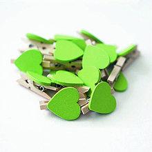 Papiernictvo - Štipec so srdiečkom - zelený - 8004656_