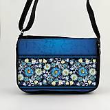 Kabelky - Kabelka na plece modré kvety5 - 8005865_