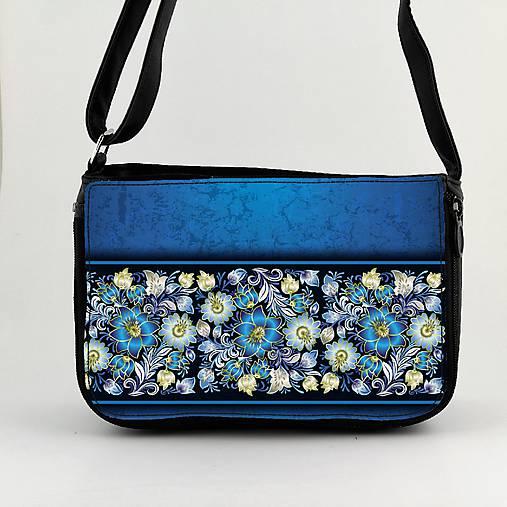 Kabelka na plece modré kvety5