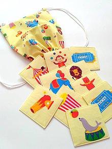 Hračky - Látkové pexeso s ruksakom Cirkus - 8004402_