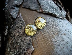 Náušnice - Krúžky 12 mm s kovovým efektom - 8005034_