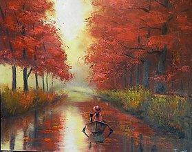 Obrazy - Na řece - 8005499_