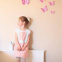 Detské oblečenie - Pastelová pom-pom zásterka, 5-8rokov - 8004704_
