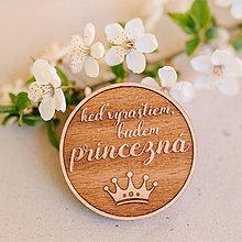 Odznaky/Brošne - princezná - tmavá brošňa - 8005169_