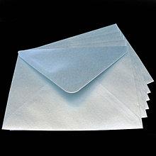 Papier - Obálka C6 - modrá perleťová - 8003610_