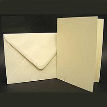 Papier - Obálka + pohľadnica - slonovinová (A6) - 8003662_