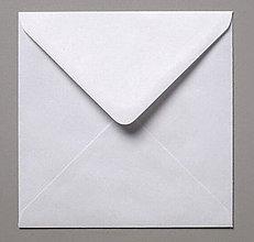 Papier - Obálka štvorcová 155x155 mm - biela - 8003689_