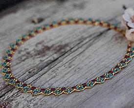 Náhrdelníky - Čipkovaný náhrdelník - 8006075_