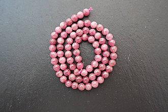 Minerály - Rubelit (červený turmalín) 6mm - 8005915_