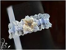 Bielizeň/Plavky - Krémový podväzok - 8005157_