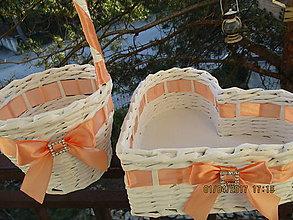 Košíky - broskyňová sada + štras - 8005300_