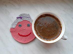 Úžitkový textil - Podšálka babička - 8007358_