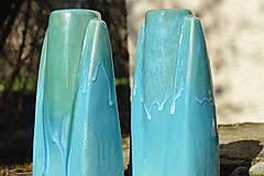 Dekorácie - Váza tyrkysová gotika