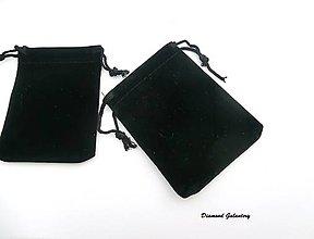 Obalový materiál - Dekoračná taštička - čierna - 90x70 mm - 8009234_