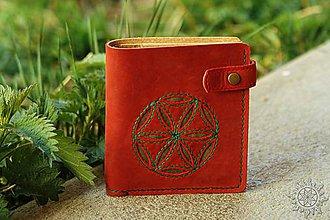Peňaženky - Kožená peňaženka aj na veľké doklady červená Svarga IV.a - 8009915_
