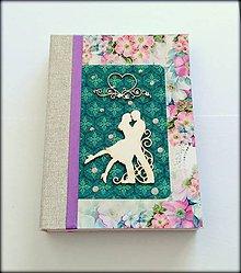 Papiernictvo - Svadobný plánovač/kniha hostí/zápisník/diár/sketchbook ,,My love\