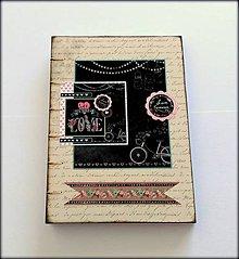 Papiernictvo - Ručne šitý zápisník/denník/diár/notes/sketchbook/svadobný plánovač ,,Love in Black\