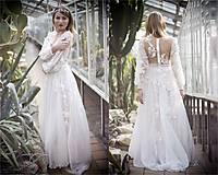 - Šifónové s dlhým rukávom a krajkou,,Focus wedding,, - 8007539_