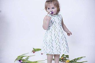Detské oblečenie - Detské šaty s vtáčikmi - 8007502_