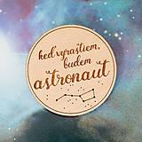 - astronaut - svetlá brošňa - 8007384_