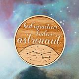 - astronaut - tmavá brošňa - 8007388_