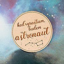 Odznaky/Brošne - astronaut - svetlá brošňa - 8007384_