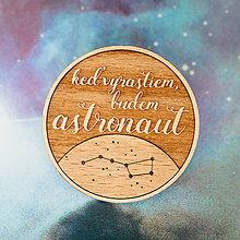 Odznaky/Brošne - astronaut - tmavá brošňa - 8007388_