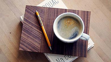 Nádoby - Drevený servírovací podnos na kávu - 8008781_