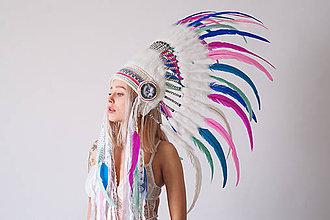 Ozdoby do vlasov - Kráľovská indiánka v pastelových odtieňoch - 8010060_