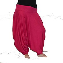 Nohavice - Turky Ušatky bambus - Růžové - 8007230_
