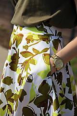 Sukne - Kruhová sukňa - zelené kvety - 8010179_