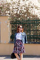 Sukne - Kruhová sukňa - vzorovaná - 8010217_