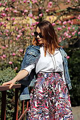 Sukne - Kruhová sukňa - vzorovaná - 8010218_
